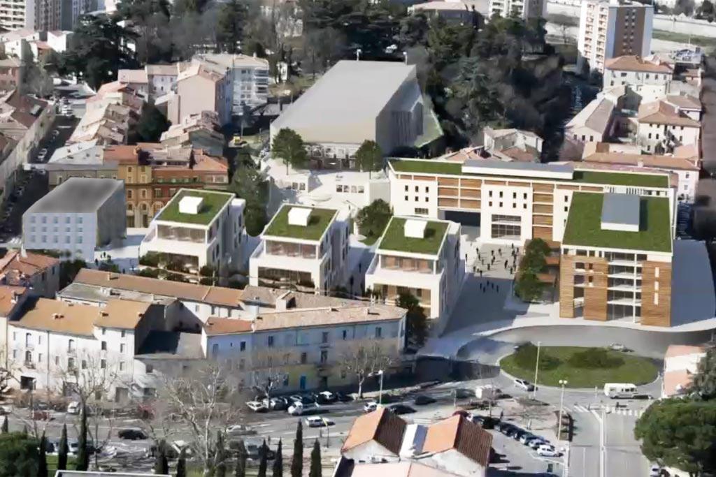 Le projet VINCI-ROUSTAN : le bétonnage de la Place des Martyrs