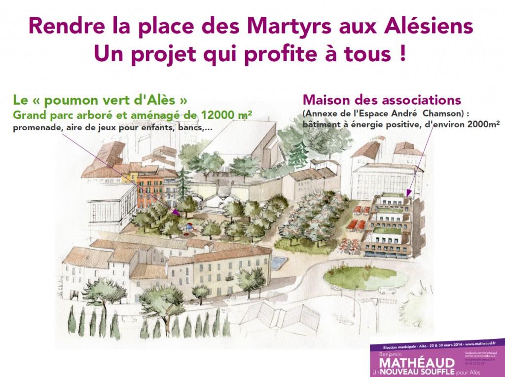 Rendre la Place des Martyrs aux Alésiens : notre projet alternatif